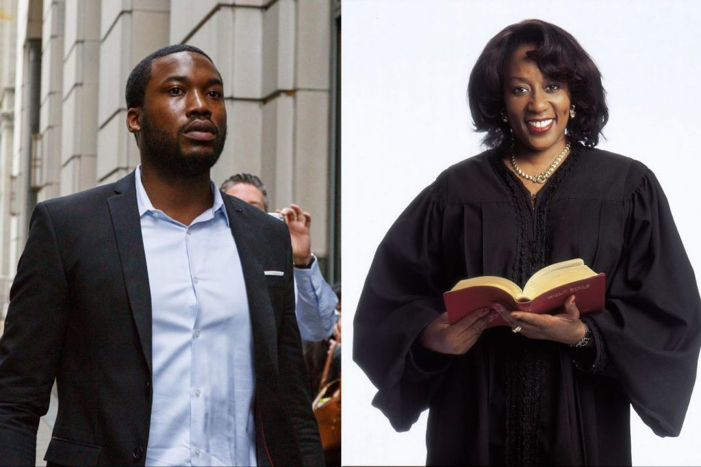 Meek Mill and Judge Genece Brinkley (JESSICA GRIFFIN (LEFT), MICHAEL BRYANT (RIGHT) / The Philadelphia Inquirer)